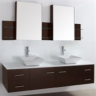 "Bianca 72"" Wall-Mounted Double Bathroom Vanity - Espresso WHE007-72-ESP"