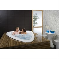 Aquatica Evolution Built In Lucite Acrylic Bathtub - White Aquatica Evolution