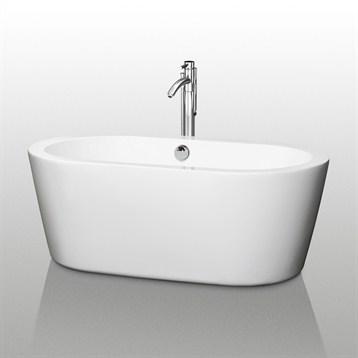 """Mermaid 60"""" Soaking Bathtub by Wyndham Collection WC-BT1003-60 by Wyndham Collection®"""
