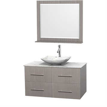 """Centra 42"""" Single Bathroom Vanity for Vessel Sink by Wyndham Collection, Gray Oak WC-WHE009-42-SGL-VAN-GRO_ by Wyndham Collection®"""