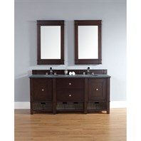 "James Martin 72"" Madison Double Vanity - Burnished Mahogany 800-V72-BNM"