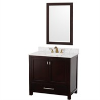 "Abingdon 36"" Single Bathroom Vanity Set by Wyndham Collection - Espresso WC-1515-36-ESP"