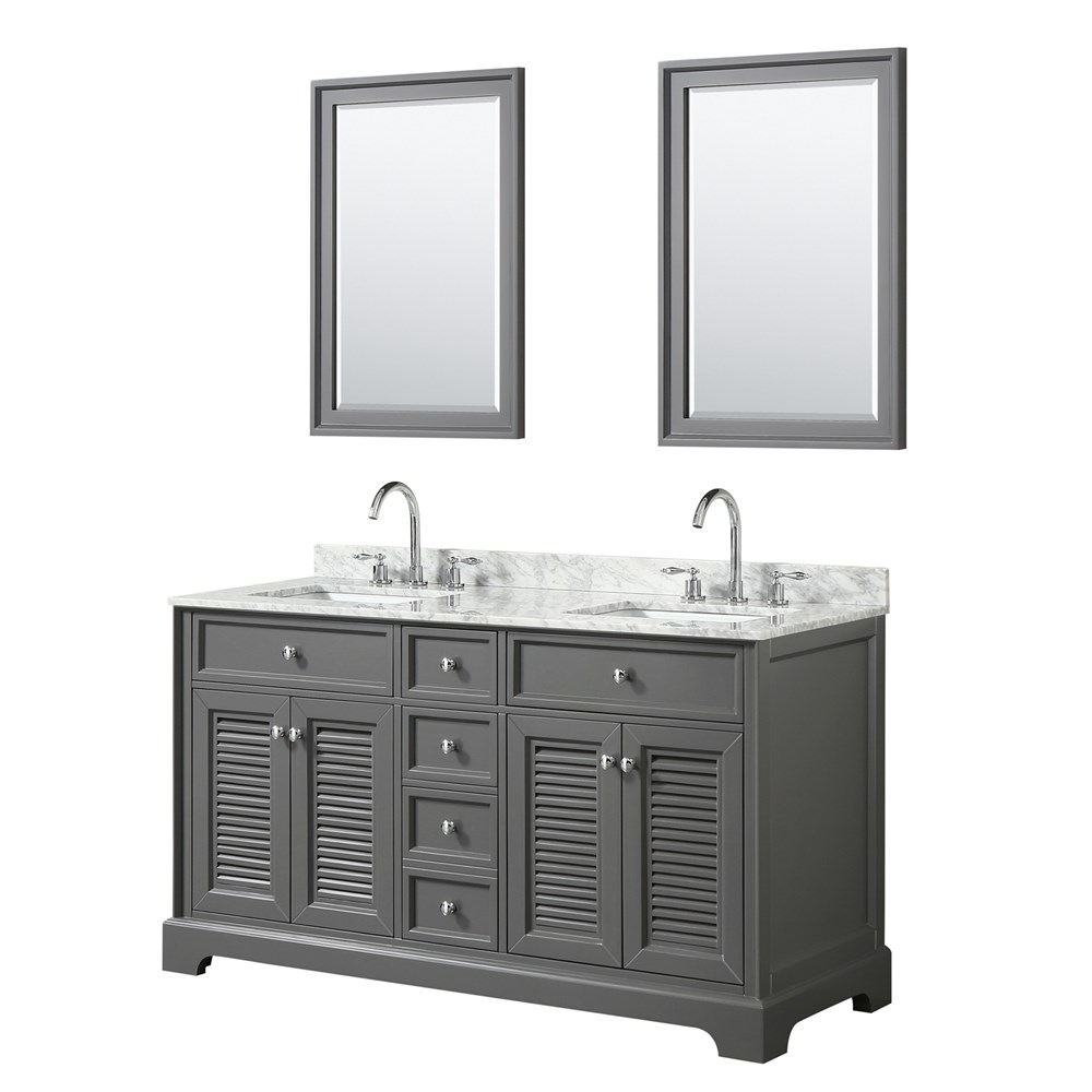 "Tamara 60"" Double Bathroom Vanity by Wyndham Collection - Dark Gray WC-2121-60-DBL-VAN-DKG"