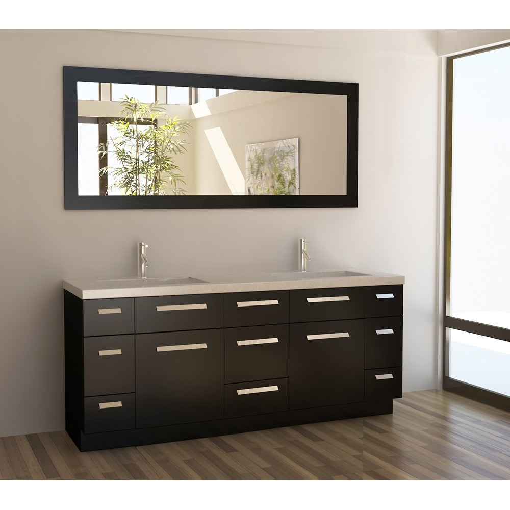 "Design Element Moscony 72"" Double Sink Vanity Set - Espressonohtin Sale $1799.00 SKU: J72-DS :"