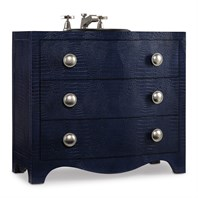 "Cole & Co. 38"" Designer Series Madans Sink Chest - Midnight Blue Faux Croc Stamped Robus Leather 11.22.275538.64"