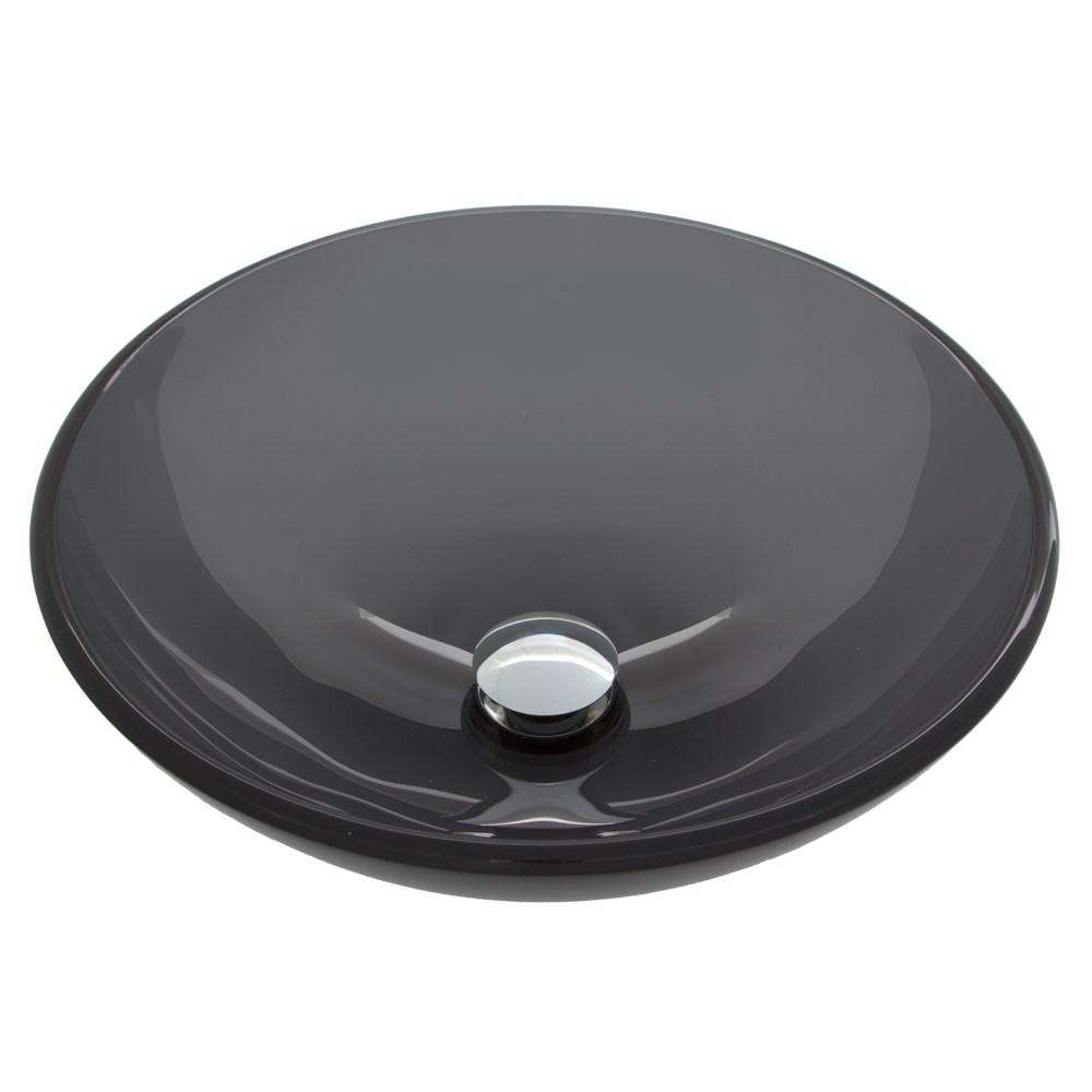 Vigo Sheer Black Glass Vessel Sink - Blacknohtin