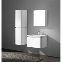 "Madeli Euro 30"" Bathroom Vanity with Integrated Basin - Glossy White Euro-30-GW"