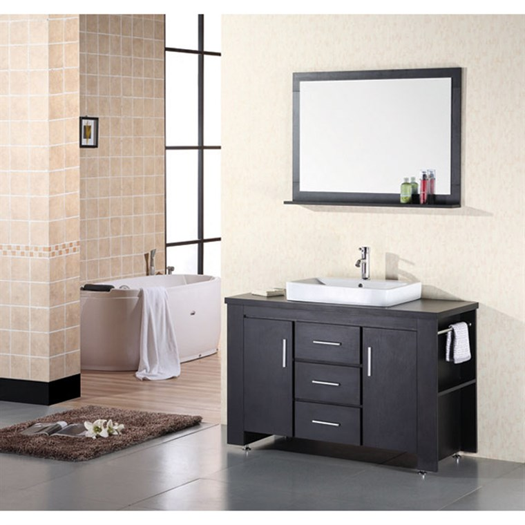 "Design Element Washington 48"" Bathroom Vanity Set - Espresso DEC083C"