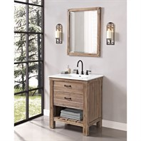 "Fairmont Designs Napa 30"" Open Shelf Vanity for Integrated Sinktop - Sonoma Sand 1507-VH30-"