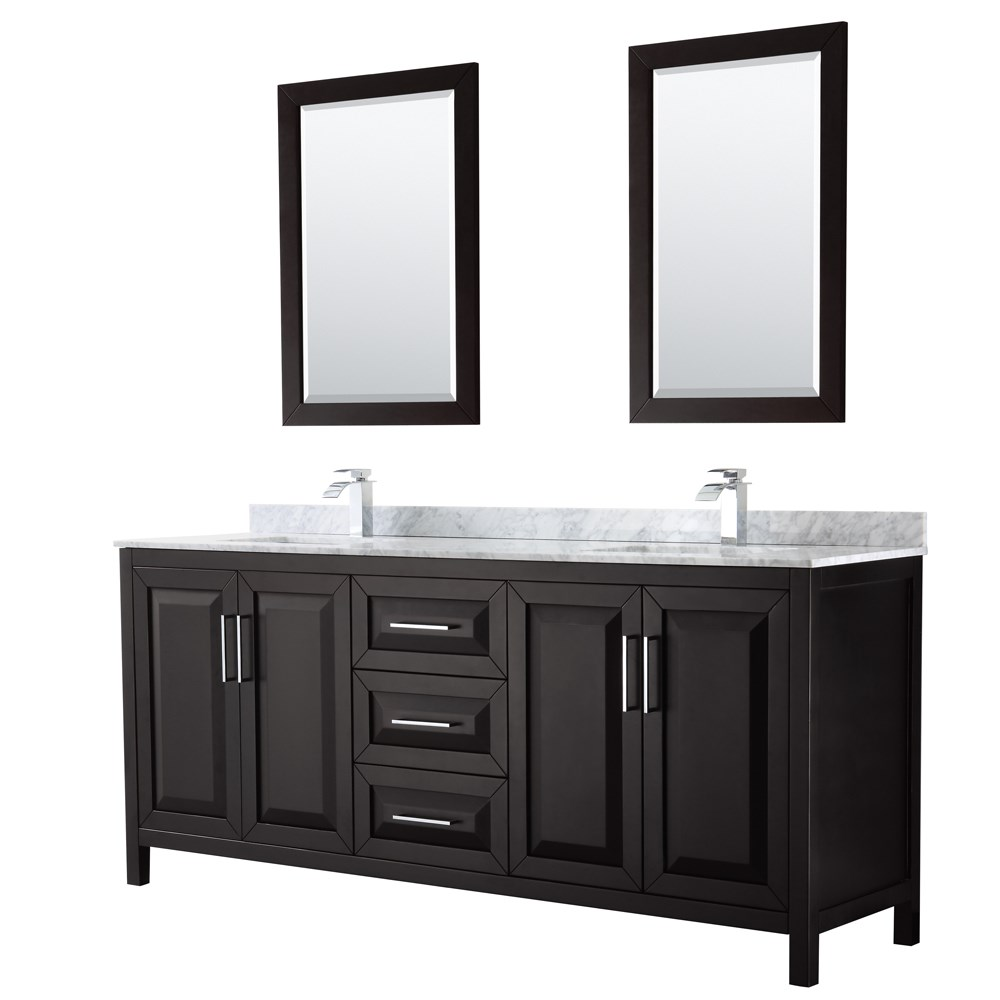 Daria 80 Double Bathroom Vanity By Wyndham Collection Dark Espresso Free Shipping Modern