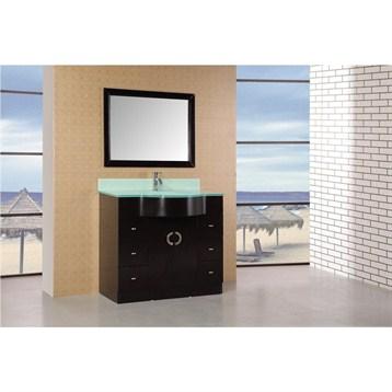 """Design Element Aria 40"""" Modern Bathroom Vanity, Espresso DEC061 by Design Element"""