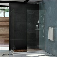 "Bath Authority DreamLine Linea Frameless Shower Door Panels (30"" and 34"") SHDR-3230342"