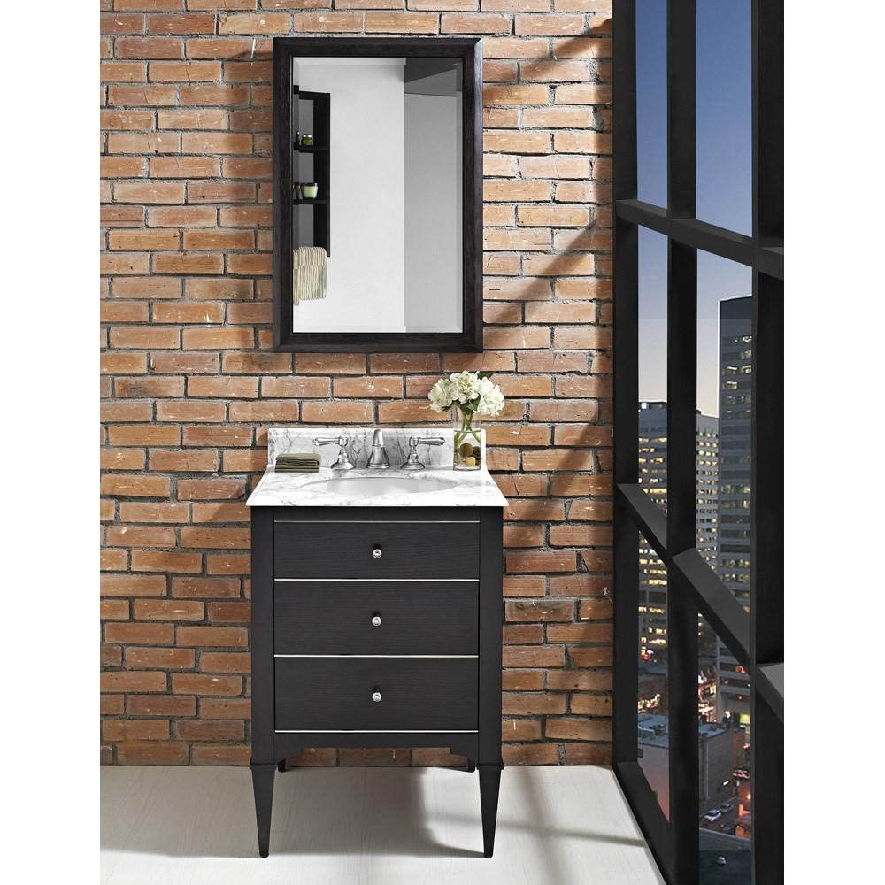"Fairmont Designs Charlottesville 24"" Vanity for Undermount Oval Sink - Vintage Blacknohtin Sale $1151.00 SKU: 1511-V24_ :"