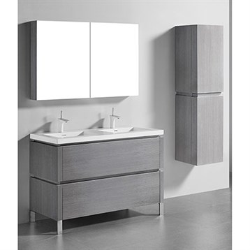 "Madeli Metro 48"" Double Bathroom Vanity for Integrated Basin, Ash Grey B600-48D-001-AG by Madeli"