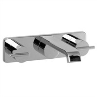 JADO Glance Widespread Wall-Mount Lavatory Set - Lever Handles 831175