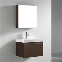 "Madeli Venasca 24"" Bathroom Vanity with Integrated Basin - Walnut Venasca-24-WA"