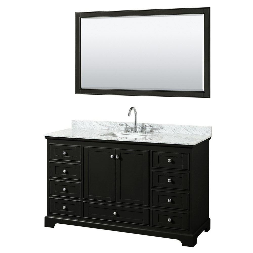 "Deborah 60"" Single Bathroom Vanity by Wyndham Collection - Dark Espresso WC-2020-60-SGL-VAN-DES"