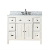 "Avanity Hamilton 42"" Single Bathroom Vanity - French White HAMILTON-42-FW"