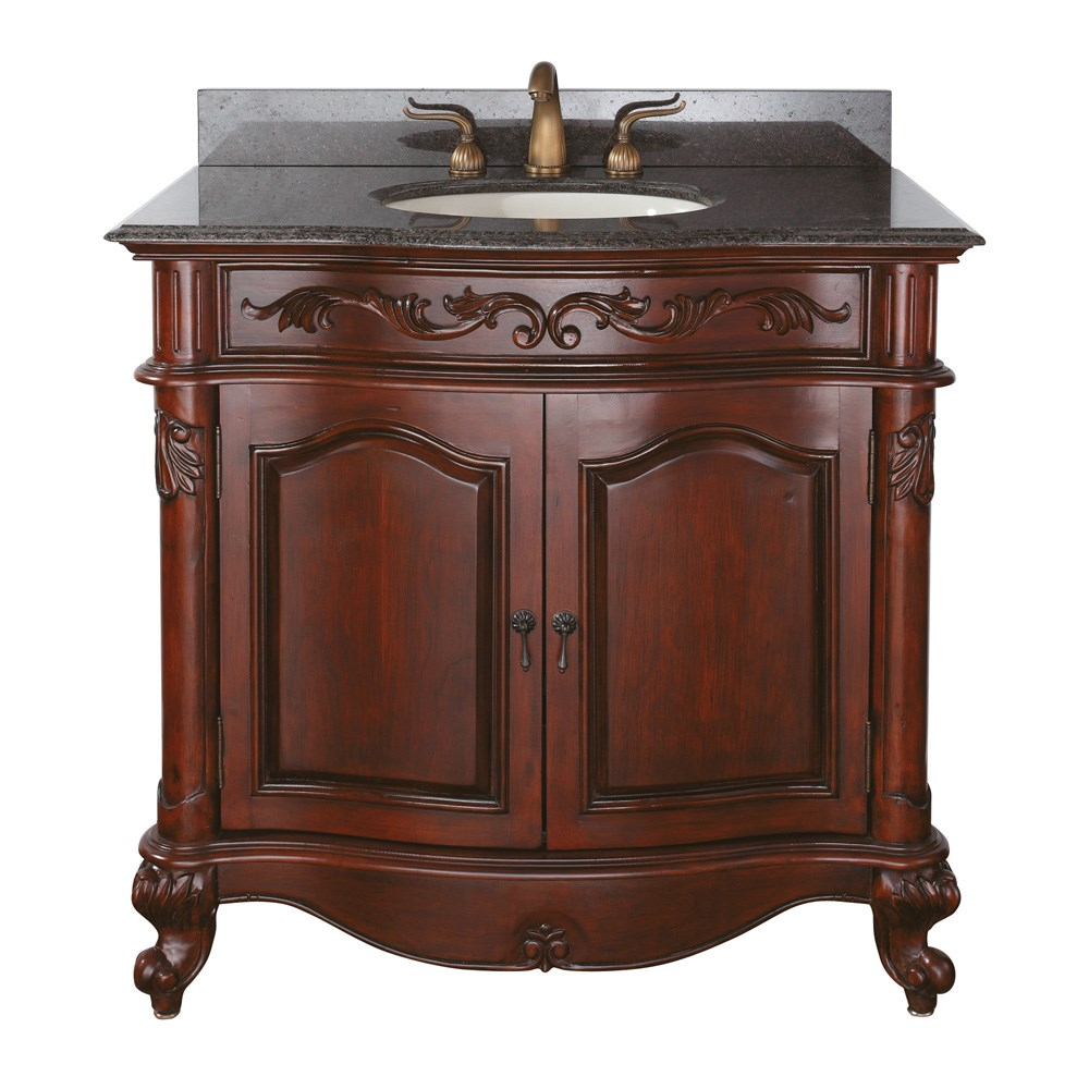 "Avanity Provence 37"" Single Bathroom Vanity - Antique Cherrynohtin Sale $850.00 SKU: PROVENCE-36-AC :"