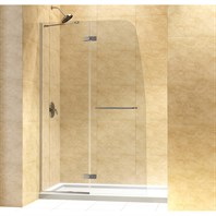 "Bath Authority DreamLine Aqua Ultra Frameless Hinged Shower Door and SlimLine Single Threshold Shower Base (36"" by 60"") DL-6523"