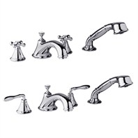 Grohe Seabury 4-Hole Roman Tub Filler - Starlight Chrome