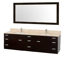 "Encore 78"" Double Bathroom Vanity Set by Wyndham Collection - Espresso WC-CG4000-78-ESP"