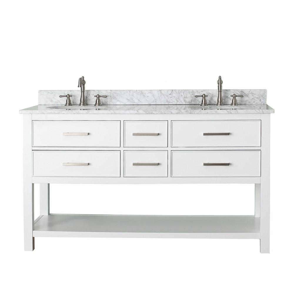 Avanity Brooks 60 Double Bathroom Vanity White
