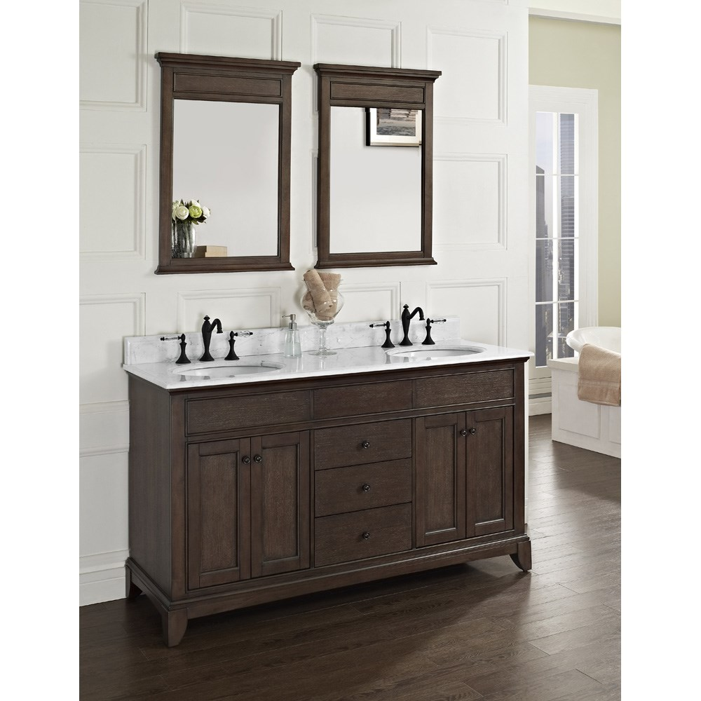 "Fairmont Designs Smithfield 60"" Double Bowl Vanity - Minknohtin Sale $1790.00 SKU: 1503-V6021D :"