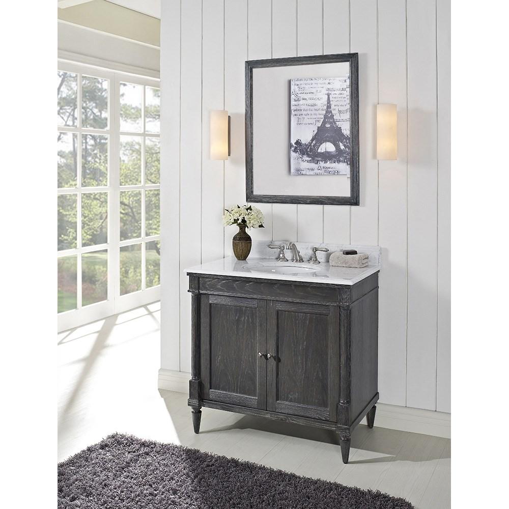 Fairmont Designs Rustic Chic 36 Vanity Silvered Oak Free Shipping Modern Bathroom