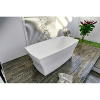 Aquatica Elise Freestanding AquateX Bathtub - Matte White Aquatica Elise-Wht