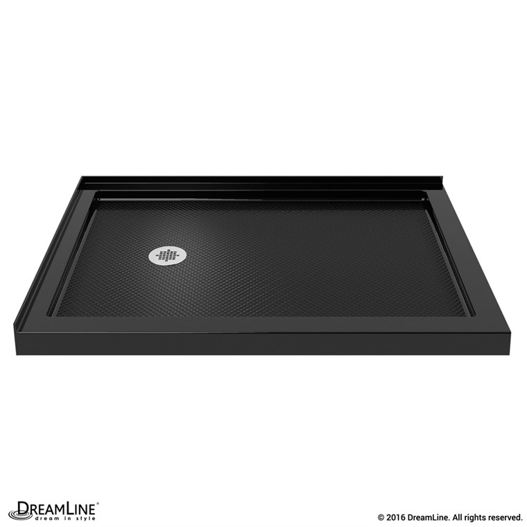"Bath Authority DreamLine SlimLine Double Threshold Shower Base (34"" by 48"") - Black - Left Hand Drain DLT-1034481-88"