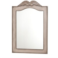 "Diana Bathroom Mirror - Antique White (26"" x 38"") JS-MIRROR-TRAD-26-ANTWHT"