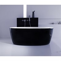 Aquatica PureScape 174A-Blck-Wht Freestanding Acrylic Bathtub - Black and White Aquatica PS174A-Blck-Wht