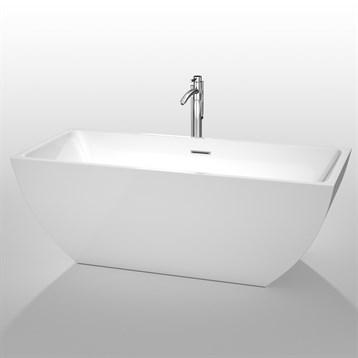 """Rachel 67"""" Soaking Bathtub by Wyndham Collection, White WC-BTK1505-67 by Wyndham Collection®"""