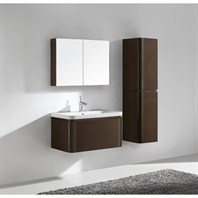 "Madeli Euro 36"" Bathroom Vanity with Integrated Basin - Walnut B930-36-002-WA"