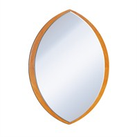 Julia Wood Bathroom Mirror - Honey Oak