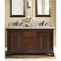"Fairmont Designs Newhaven 60"" Double Bowl Vanity - Nutmeg 159-V6021D"