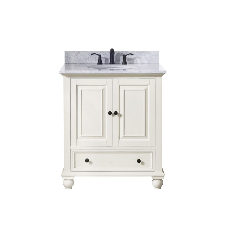 "Avanity Thompson 30"" Single Bathroom Vanity - French White THOMPSON-30-FW"