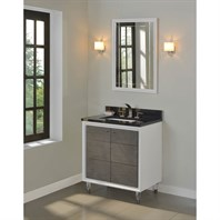 "Fairmont Designs Park Central 30"" Vanity - Glossy White / Silvered Oak 1531-V30"