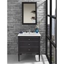 "Fairmont Designs Charlottesville 30"" Vanity for Integrated Sinktop - Vintage Black 1511-V30-"