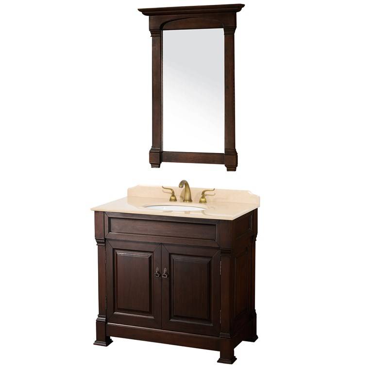 "Andover 36"" Traditional Bathroom Vanity Set by Wyndham Collection - Dark Cherry WC-TS36-DKCH"