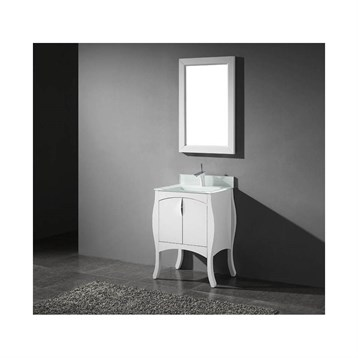 "Madeli Sorrento 27"" Bathroom Vanity for Integrated Basin, Glossy White B953-27-001-GW by Madeli"