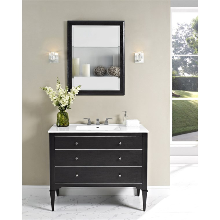 "Fairmont Designs Charlottesville 42"" Vanity for Integrated Sinktop - Vintage Black 1511-V42-"