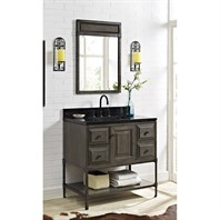 "Fairmont Designs Toledo 36"" Vanity with Doors - Driftwood Gray 1401-36_"