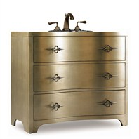 "Cole & Co. 38"" Designer Series Collection Marilyn Sink Chest - Antique Silver and Gold 11.22.275538.45"