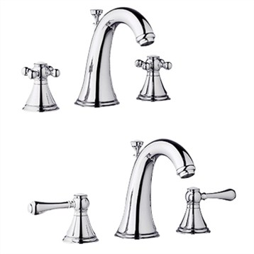 Grohe Geneva Low Spout Lavatory Wideset, Starlight Chrome by GROHE