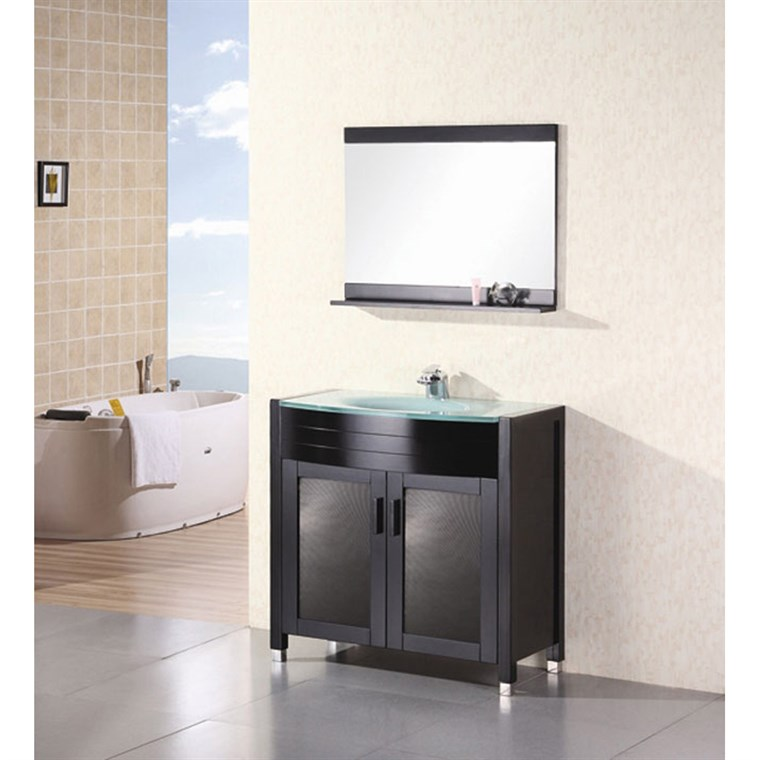 "Design Element Waterfall 36"" Bathroom Vanity - Espresso DEC018"