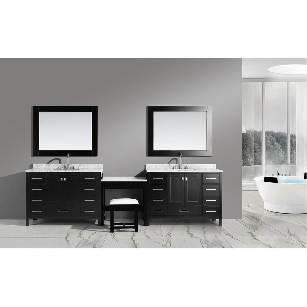 "Design Element London Two 48"" Vanities with Make-up Table - Espressonohtin Sale $3199.00 SKU: DEC082CX2_MUT :"
