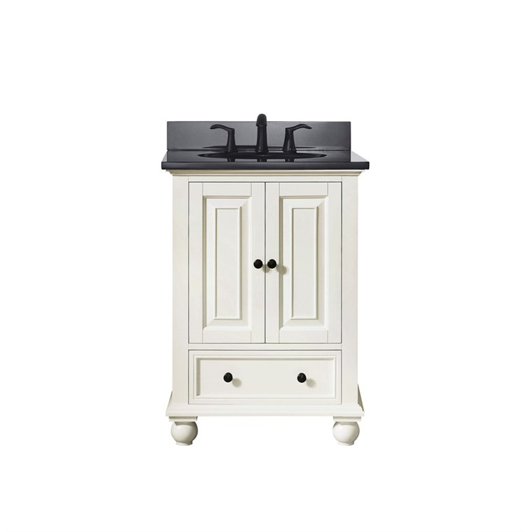 "Avanity Thompson 24"" Single Bathroom Vanity with Countertop - French White THOMPSON-VS24-FW"