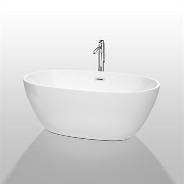 """Juno 59"""" Soaking Bathtub by Wyndham Collection, White WC-BTK1561-59 by Wyndham Collection®"""